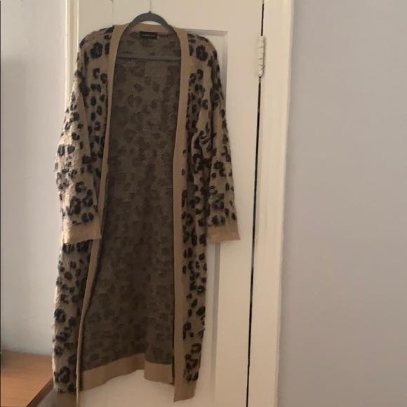 Mustard Seed Sweaters - Women's cardigan   leopard   size small